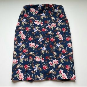 Philosophy Navy Floral Pencil Skirt